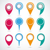 Set Of Colored Circle Pointers Royalty Free Stock Photo
