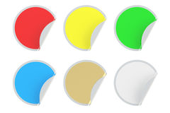 Set of colored circle stickers Stock Photo