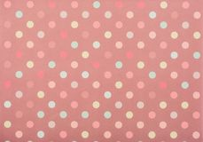 Set of colored circles for decoration. On pink royalty free stock photo