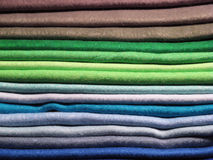 Set of colored clothes Royalty Free Stock Image