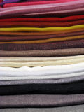 Set of colored clothes Royalty Free Stock Photos