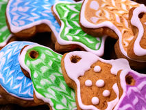 Set of colored cookies close up. Royalty Free Stock Photos