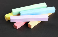 Set of colored crayons Royalty Free Stock Images