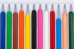 Set of colored crayons Stock Photos