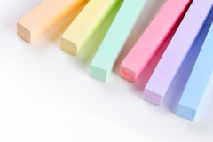 Set of colored crayons Stock Images
