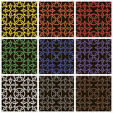 Set of colored cross pattern Stock Image