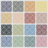 Set of colored cross pattern Royalty Free Stock Photography
