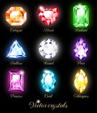 Set of colored crystals Stock Photography