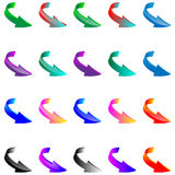 Set of colored 3d arrows 15.04.13 Royalty Free Stock Image