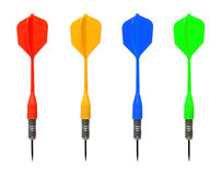 Set of colored darts Stock Photo