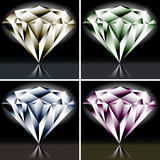 Set of colored diamonds Royalty Free Stock Photography