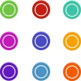 Set of colored dots, round buttons, elements for web design stock illustration
