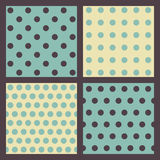 Set of colored dotted patterns. Set of 4 colored dotted patterns Royalty Free Stock Image