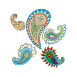 Set of colored drops of Indian style Royalty Free Stock Images