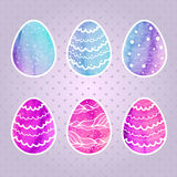 Set of colored Easter eggs Stock Images