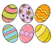 Easter eggs vector Stock Photography