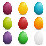 Set of Colored Easter Eggs Royalty Free Stock Images
