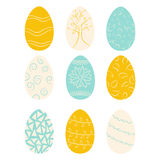 Set of colored Easter eggs Royalty Free Stock Photos
