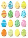 Set of colored Easter eggs. Vector illustration stock illustration