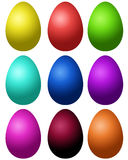 Set of colored eggs Stock Photos
