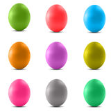 Set of colored Easter eggs. On a white background Royalty Free Stock Photo