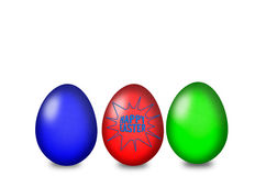 Set of colored Easter eggs on a white background Stock Photo