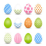 Set of colored Easter eggs on a white background Royalty Free Stock Photography