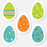 Set of colored Easter eggs on a white background Royalty Free Stock Photos