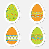 Set of colored Easter eggs on a white background Stock Image