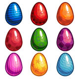 A set of colored eggs Royalty Free Stock Photo