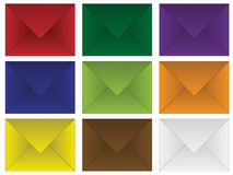 Set of colored envelopes Stock Image