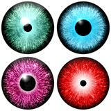 Set of colored eyes Royalty Free Stock Photos