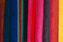 Set of colored fabrics Royalty Free Stock Images