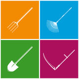 Set of Colored Farming  Icons Royalty Free Stock Image