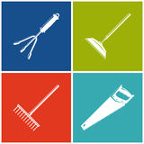 Set of Colored Farming  Icons Stock Images