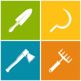 Set of Colored Farming  Icons Royalty Free Stock Images