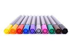Set of colored felt-tip pens Royalty Free Stock Photography