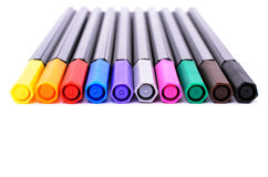 Set of colored felt-tip pens Royalty Free Stock Images