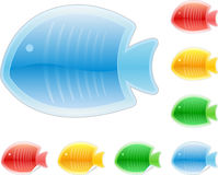Set of colored fish Royalty Free Stock Image