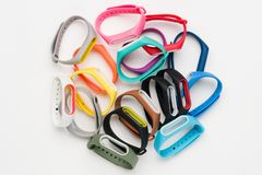 Set of colored fitness bands Royalty Free Stock Image