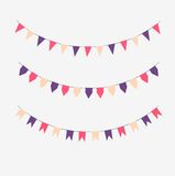 Set of colored flags. On a light gray background Royalty Free Stock Photos