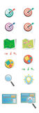 Set of colored flat icons Royalty Free Stock Image