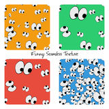 Set of colored funny seamless patterns Royalty Free Stock Images