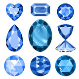 Set of colored gems Stock Photo