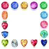 Set of colored gems. Isolated on white background, vector illustration vector illustration