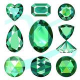 Set of colored gems. On white background, vector illustration royalty free illustration