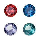 Set of colored gemstones Stock Photos