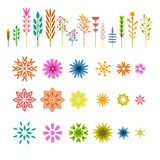 Set of colored geometric elements in the plant Stock Image