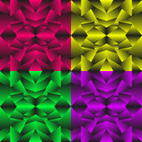 A set of colored geometric textures. Stock Images