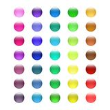 Set of colored glass buttons. Glossy icons for web. Vector design round Royalty Free Stock Image
